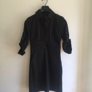 Ann Taylor Black Shirt Dress Size 0
